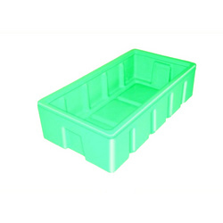 Green Rectangular PPT-774122 Roto Plastic Crate, Capacity: 51 Ltrs