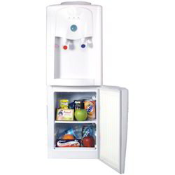 White Waves Water Dispenser With Refrigerator