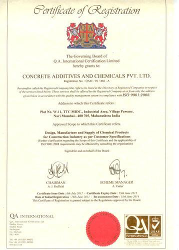 Concrete Additives & Chemicals Private Limited - Manufacturer from ...