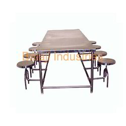 Dining Table With Foldable Stool