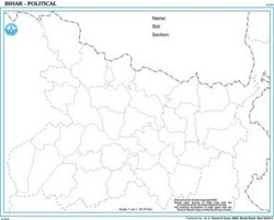 Bihar Outline For State Map