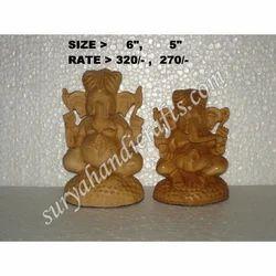Wooden Ganesh Stand Sitting