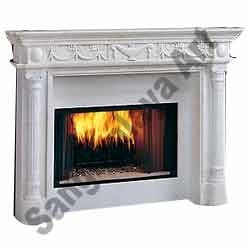 White Marble Handicraft Fireplace