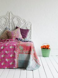 Vintage Kantha Quilt & Cushion Cover