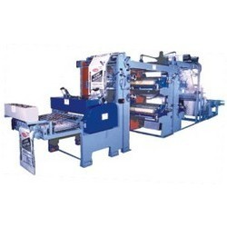 HDPE Bag Printing, Gusseting Cum Cutting Machine