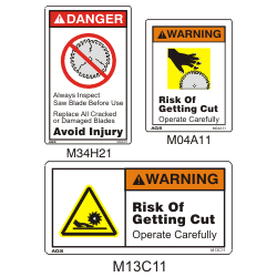Saw Blade Safety Signs View Specifications Amp Details Of