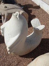 Garden Sandstone Fish Statue