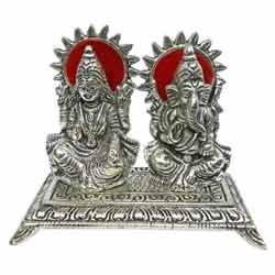 White Metal Laxmi Ganesha Idols