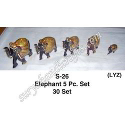 Wooden Elephant Different Size Set