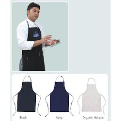 White And Black Cotton Adjustable Aprons, Size: 20W X 30H inch