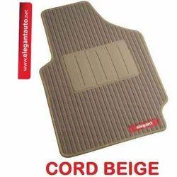 Cord Beige Foot Mats