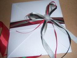 Eco Friendly Fancy Paper Envelopes With Ribbon Ties