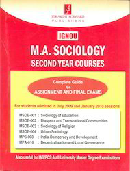 IGNOU M. A. Sociology Second Year Courses