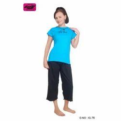 Girls Cotton Round Neck Top & Bottom Wear