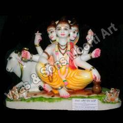 Coloured Datta Treya Statues