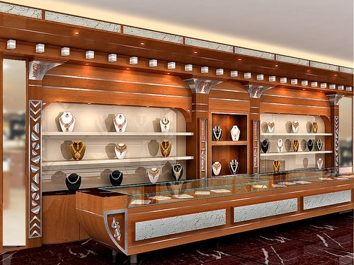 Jewellery Showroom Interior Decoration