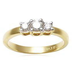 White Gold Three Piece Wedding Rings Set
