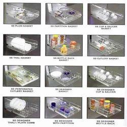modular kitchen baskets designs. partition basket elegent