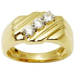 Mens Wedding Rings In 18k Gold