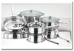 Stallion Capsulated Glass Lid Cookware Set, for Home