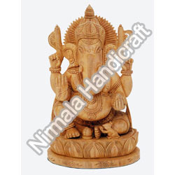 Antique Wooden Ganesha Statues