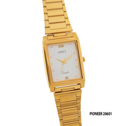 Men's Golden Chain Square Dial Watch
