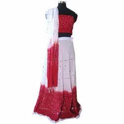 Cotton Indian Bandhej Print Designer Lehenga Choli Set