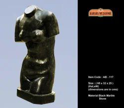 Black Marble Stone Abstract, Size: 65 X 32 X 25 ( H X L X W ) Cm