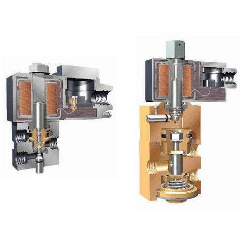 Pneumatic push pull valve 5 port 2 pos hand operated lever control.