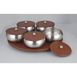 Fabia Revolving Tray Of 5 Savvy Bowls With Lid