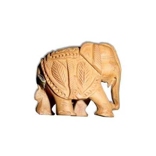 Wooden Elephant Animal Figures
