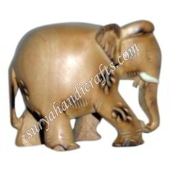 Wooden Elephant With Sandel Wood