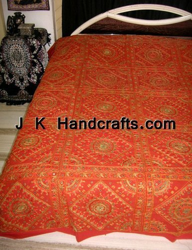 Beautiful Ethnic Hand Embroidered Bed Covers and BedSheet
