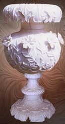 Carving Marble Pot