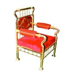 Traditional Brass Chair