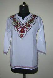 Cotton Kurta With Embroidery