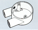 Round Conduits Fittings Branch