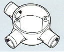 Round Conduits Fittings Tee
