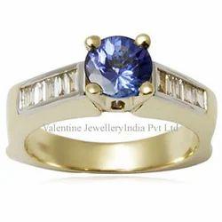 Solitaire Tanzanite Men's Ring