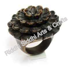 Wooden Flower Ring