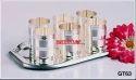 Silver Sambhav Products Disco Tray 6 Ditto Glass Set