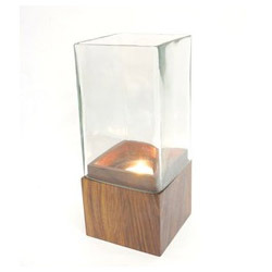 Wooden Square Candle Tea Light Holder, Packaging Type: Standard