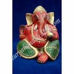 Wooden Painting Ganesh Ji