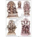 Brass Takiya Kamal Bust Ganesh