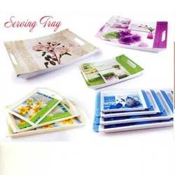 plastic serving tray view u0026 details of plastic kitchenware by pradeep polymers pvt ltd kundli id