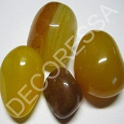 Polished Pebbles - Yellow Onyx
