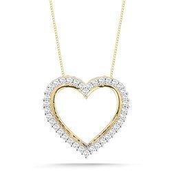 Gold cupid arrow cz heart charm pendant pooja jeweler surat id 14k yellow gold diamond heart pendant necklace aloadofball Gallery