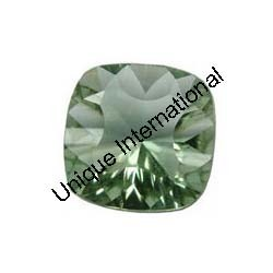 Green Amethyst Cushion Cut Gemstone