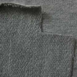 Plain Grey French Terry Blend Cotton Fabric, GSM: 200-250