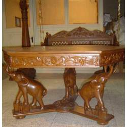 Wood Dining Tables carved wood dining table - suppliers & manufacturers in india